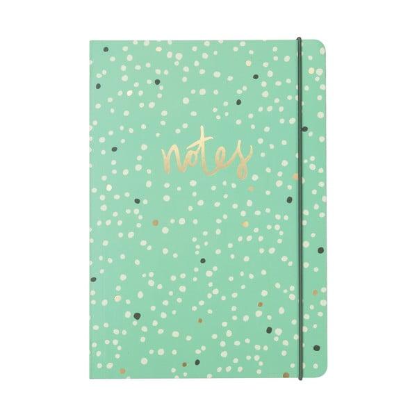 Linajkovaný zápisník B5 Portico Designs Dotty, 80 stránok