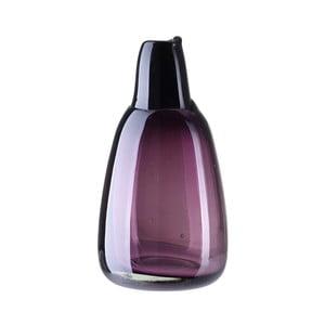 Fialová sklenená váza A Simple Mess, výška 21 cm