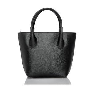 Čierna kožená kabelka Glorious Black Molly