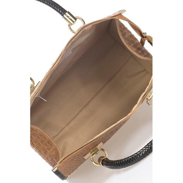 Kožená kabelka Lida, koňaková