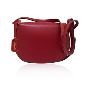 Tmavočervená kožená kabelka Maison Bag Dallas