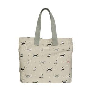 Bavlnená taška s potlačou mačiek Sophie Allport