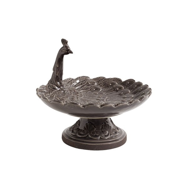 Sivý keramický podnos Nordal Bird