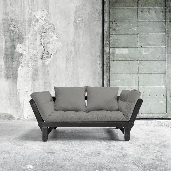 Rozkladacia pohovka Beat Black/Granite Grey