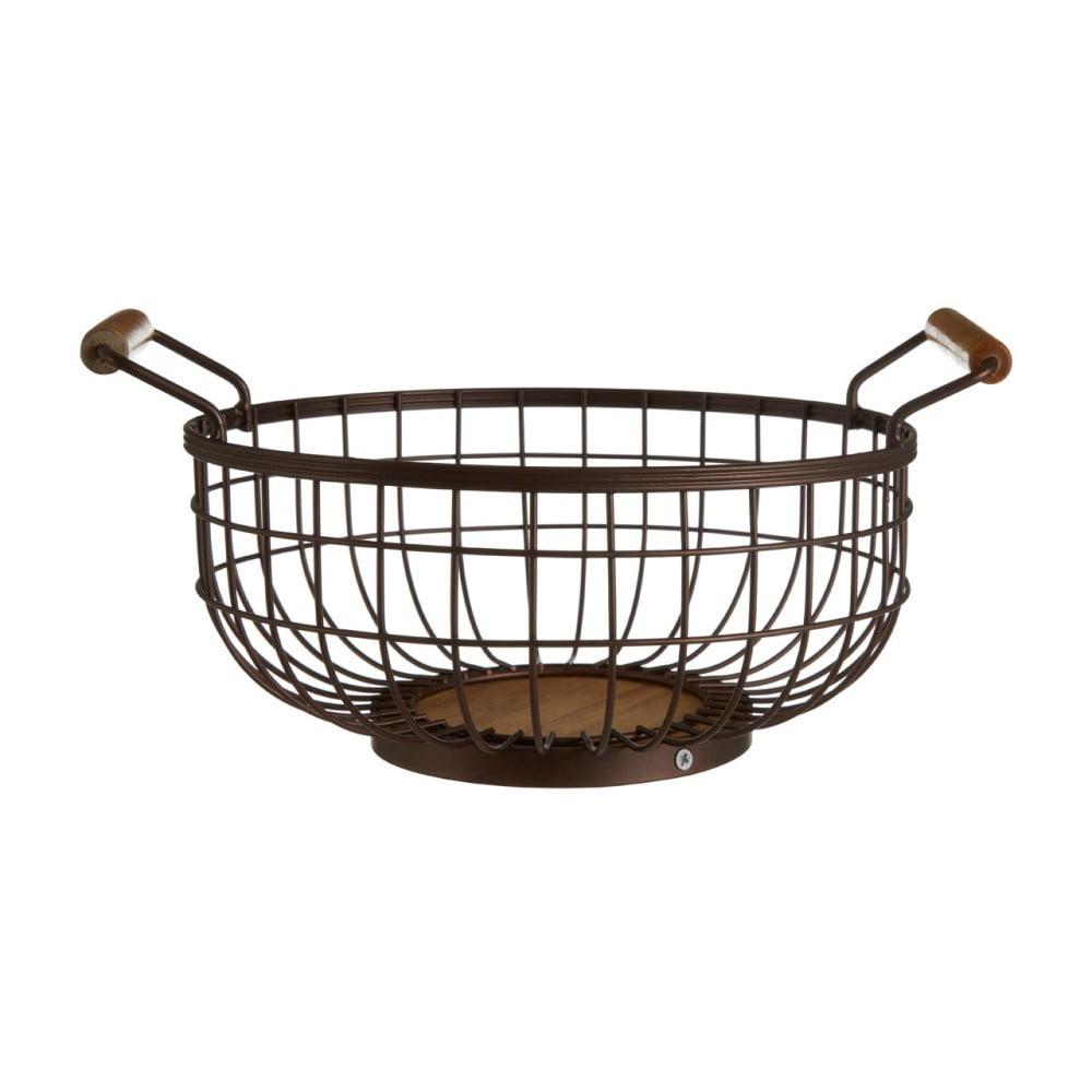 b9ce09425 Železný košík na ovocie bronzovej farby s drevenými úchytmi Premier  Housewares