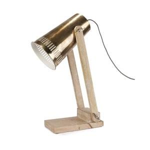 Stolová lampa so zlatým tienidlom HF Living Master