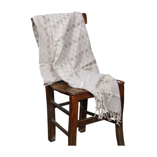 Ručne tkaná Hammam osuška z bambusových vláken Hera, 90 x 190 cm