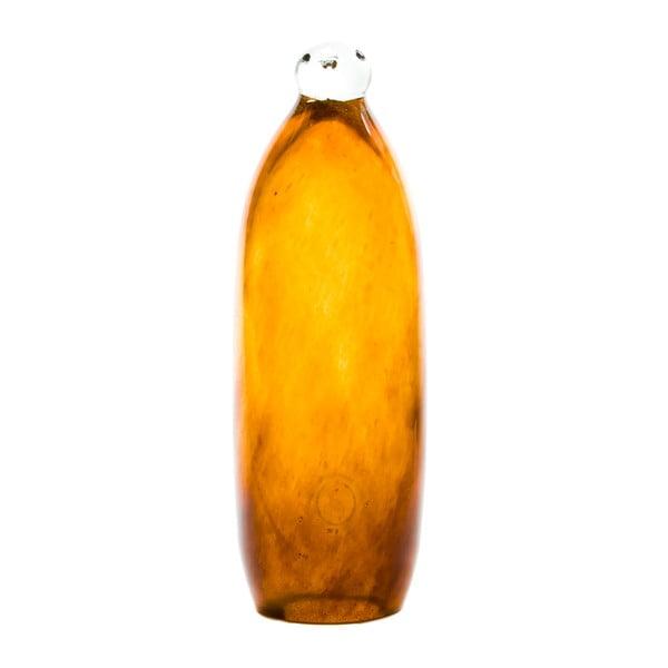 Sklenený tučniak 27-30 cm, medový