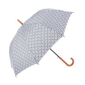 Dáždnik s modrými detailmi Print, ⌀97 cm