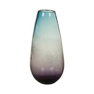 Modrá krištáľová dekoratívna váza Santiago Pons Ryde, Ø 18 cm