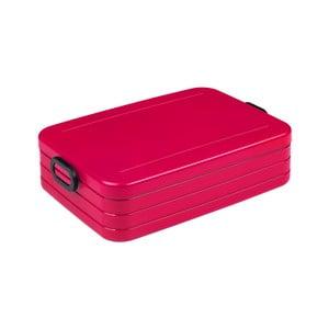 Červený box na obed Rosti Mepal Ellipse Take a Break Bento, 25,5 x 17 cm