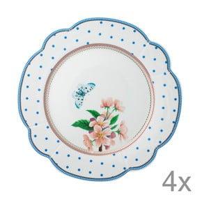 Porcelánový tanier  Dottie od Lisbeth Dahl, 24 cm, 4 ks