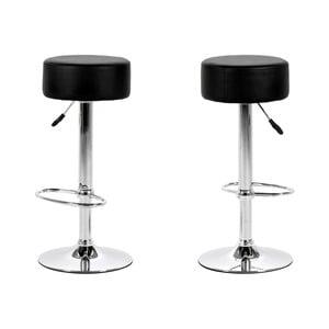 Sada 2 čiernych barových stoličiek Actona Dumpling