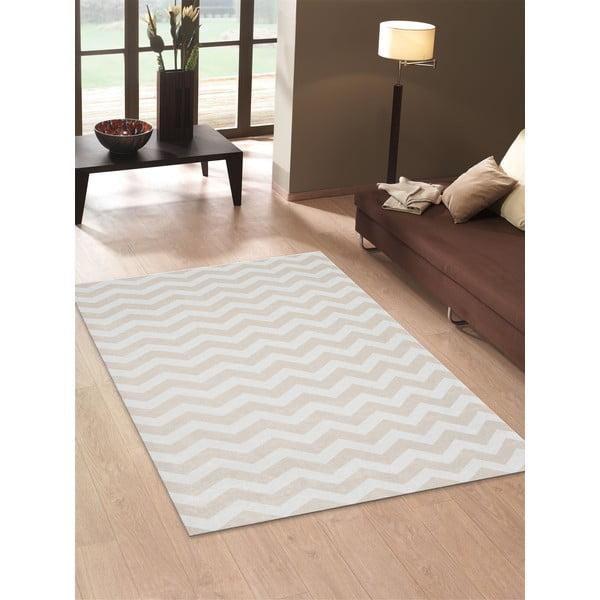 Vysokoodolný kuchynský koberec Optical Beige, 130x190 cm