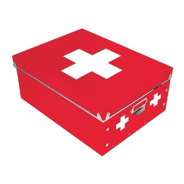 Červená krabica na lieky Incidence  Cross
