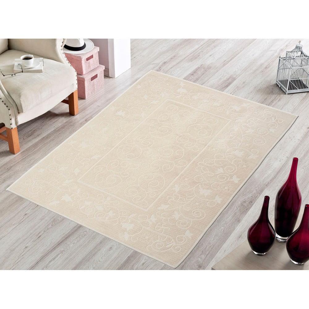 Odolný bavlnený koberec Vitaus Orchidea, 60 × 90 cm