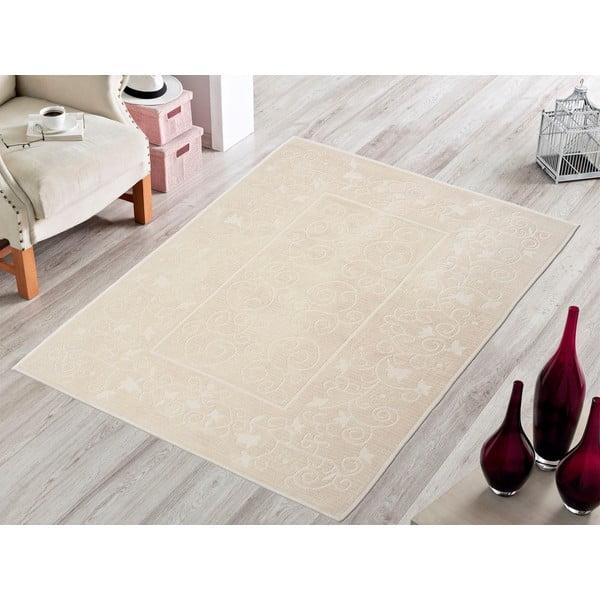 Krémový odolný koberec Vitaus Orchidea, 140x200cm