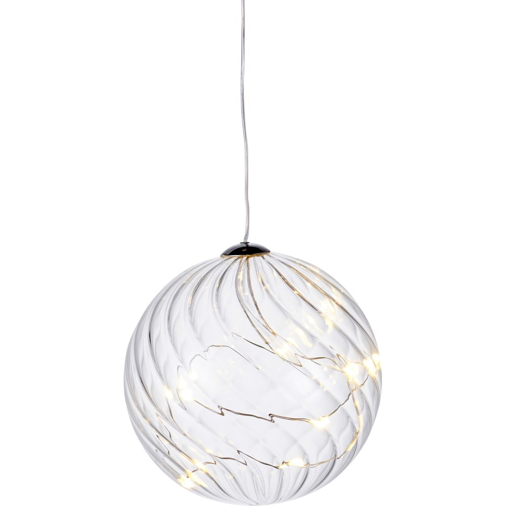 Svetelná LED dekorácia Sirius Wave Ball, Ø 10 cm