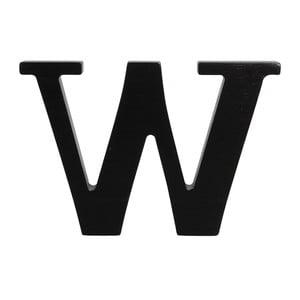 Čierne drevené písmeno Typoland W