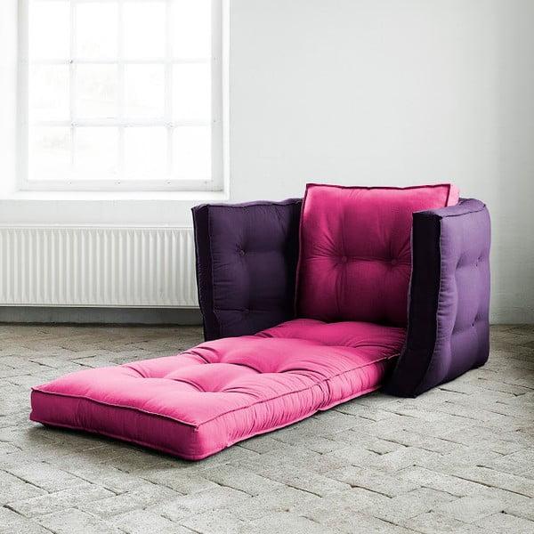 Rozkladacie kresielko Karup Dice Pink / Purple