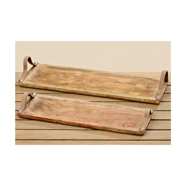 Sada 2 drevených podnosov Malus