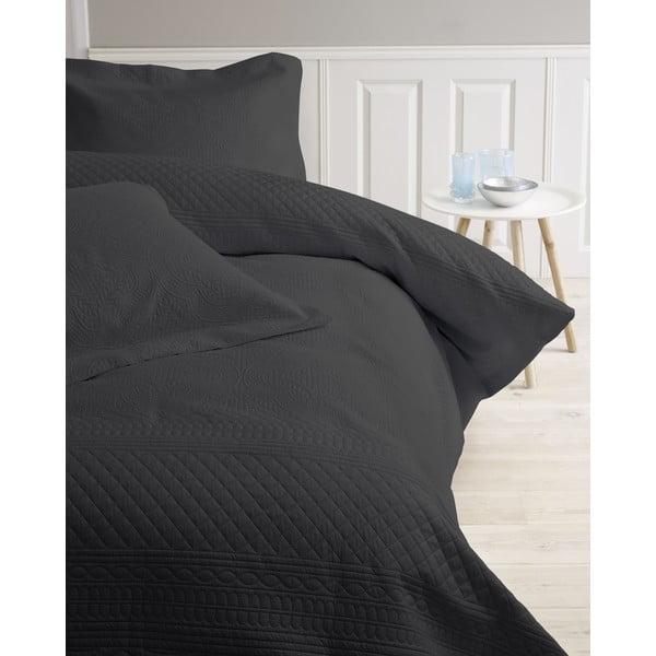 Prikrývka na posteľ Charlene, 260x250 cm, antracitovo sivá