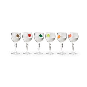 Šesť kusov rozlišovačov pohárov Qualy Leaf My Glass
