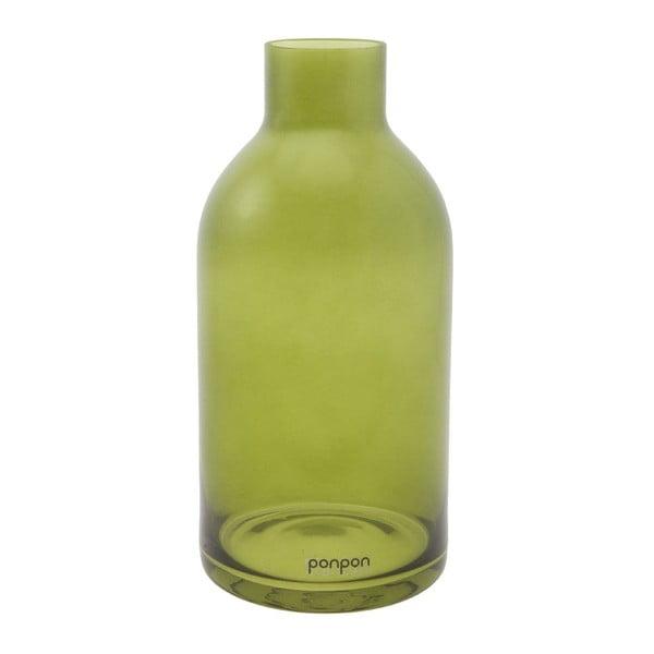 Váza/svietnik Bottle 25,5 cm, zelená