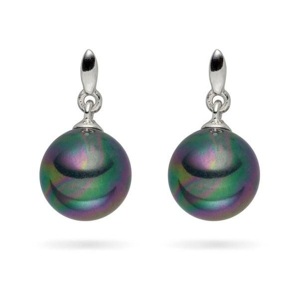 Antracitové perlové náušnice Pearls of London Romance, 1,8 cm