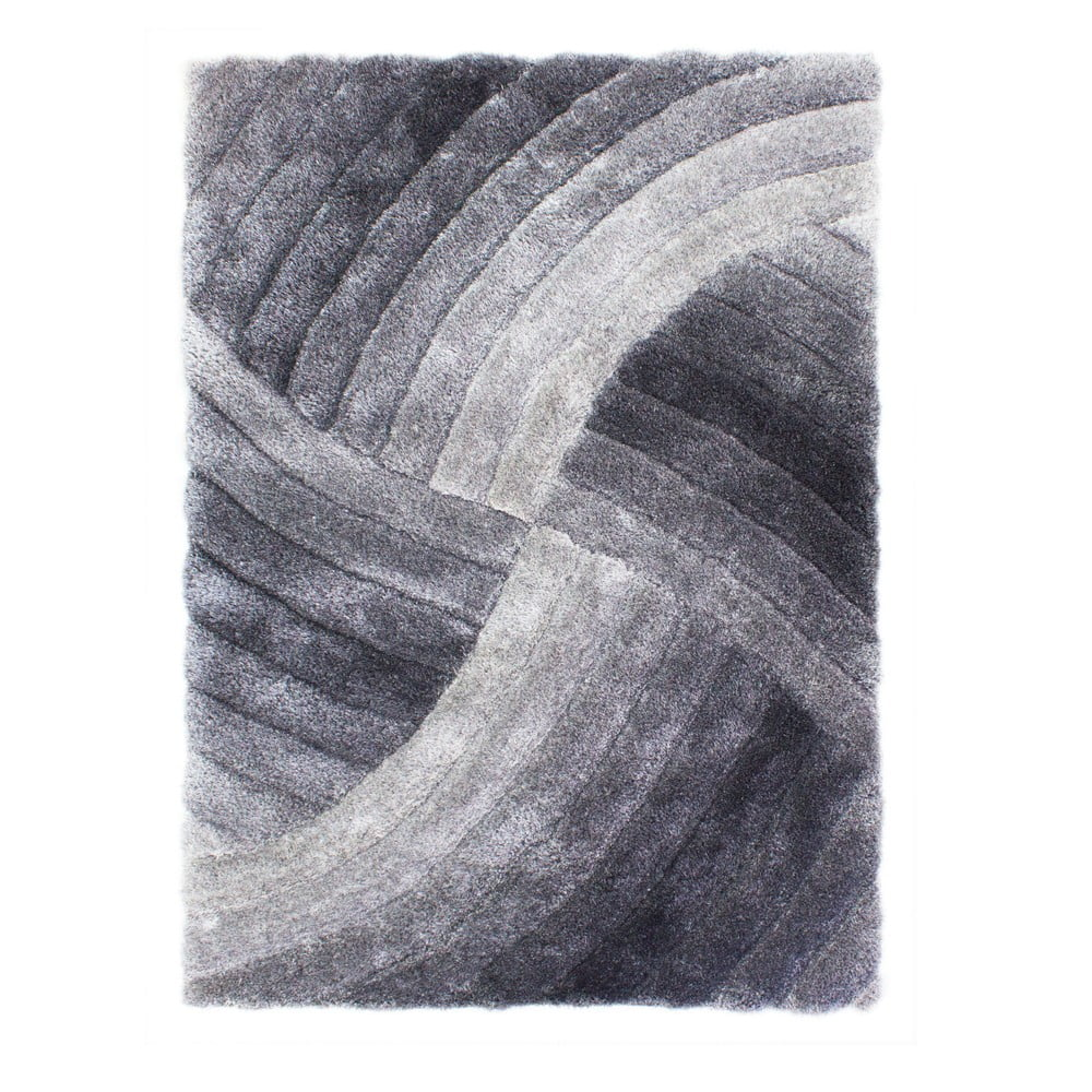 Sivý koberec Flair Rugs Furrow Grey, 120 × 170 cm