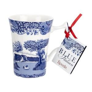 Sada 4 bielo-modrých porcelánových hrnčekov Spode Blue Italian, 280 ml