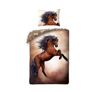 Detské bavlnené obliečky Halantex Horses, 140 x 200 cm