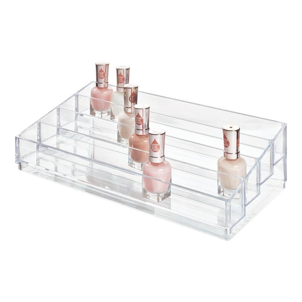 Priehľadný stojan na kozmetiku iDesign Clarity, 20 x 34 cm