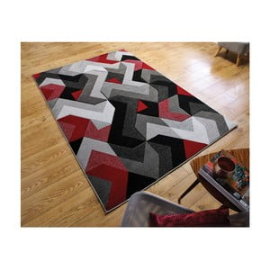 Koberec Flair Rugs Aurora Grey Red, 120 × 170 cm