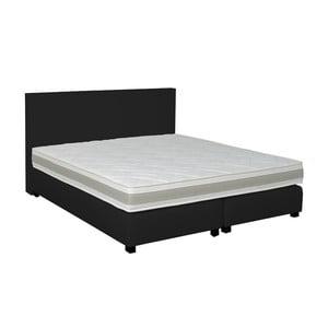 Čierna boxspring posteľ Revor Deco, 140x200cm