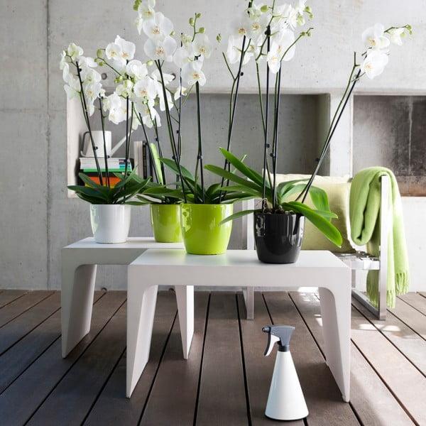 Vysoko odolný kvetináč Casa Brilliant 14 cm, biely