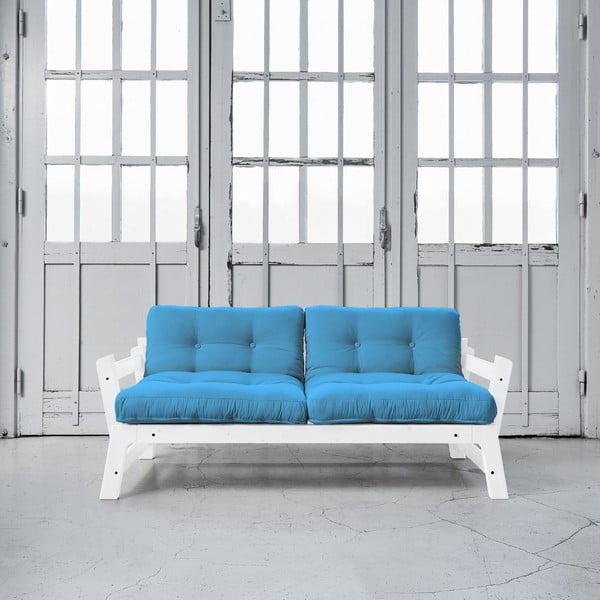 Rozkladacia pohovka Karup Step White/Horizon Blue