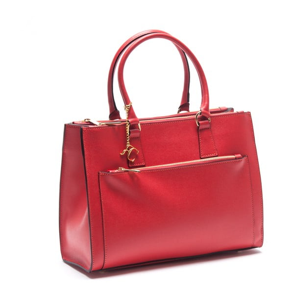 Kožená kabelka Renata Corsi 444, červená