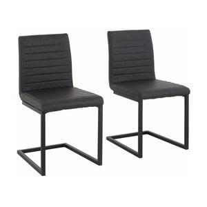 Sada 2 sivých jedálenských  stoličiek Støraa Sandra