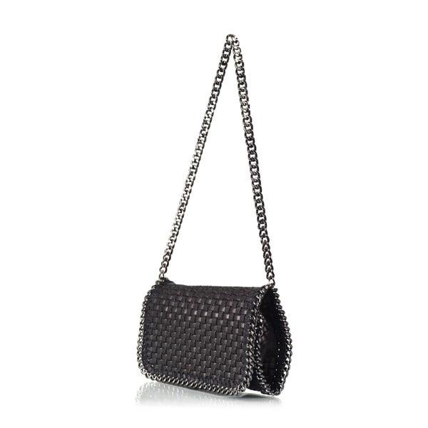 Kožená kabelka Deborah, čierna