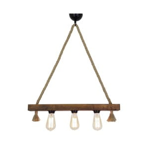 Drevené stropné závesné svietidlo Kutuk