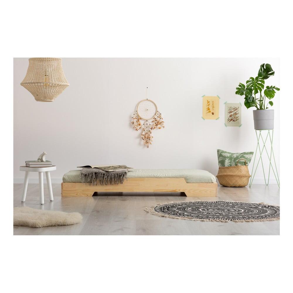 Detská posteľ z borovicového dreva Adeko BOX 8, 60 × 120 cm