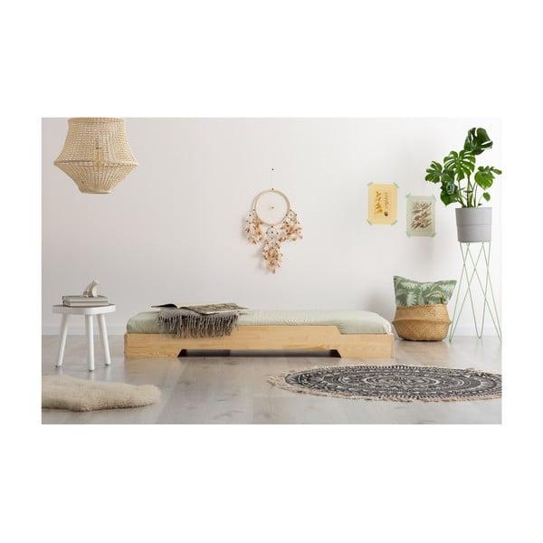 Detská posteľ z borovicového dreva Adeko BOX 8, 100×190 cm