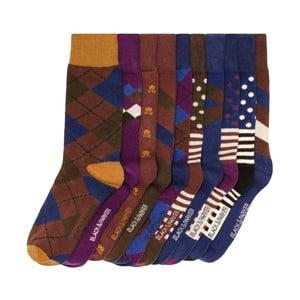 Sada 10 párov vysokých unisex ponožiek Black&Parker London Taylor, veľkosť 37/43