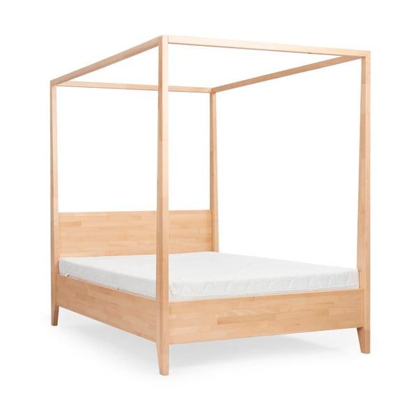 Dvojlôžková posteľ z masívneho bukového dreva SKANDICA Canopy, 140 x 200 cm