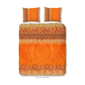 Obliečky na dvojlôžko z bavlneného saténu Muller Textiels Sangria, 200 x 200 cm