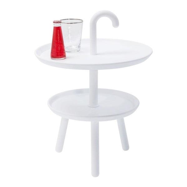Biely odkladací stolík Kare Design Jacky, ⌀42cm