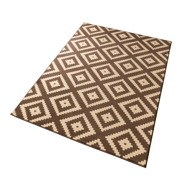 Hnedý koberec Hanse Home Hamleti Diamond, 80x150cm