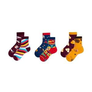 Sada 3 párov detských ponožiek v darčekovom balení Many Mornings Apache, veľ. 31–34