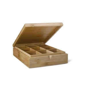 Krabička na čaj s 9 priehradkami Bredemeijer  Bamboo